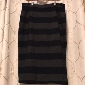 Dresses & Skirts - Gili charcoal and black wide stripe midi skirt
